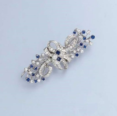 A DIAMOND AND SAPPHIRE DOUBLE-