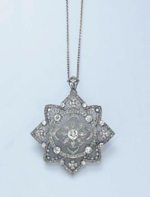 A DIAMOND AND ROCK CRYSTAL PEN