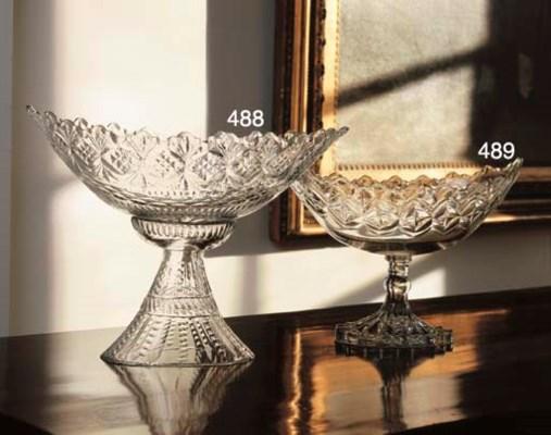 AN IRISH CUT-GLASS CENTERPIECE
