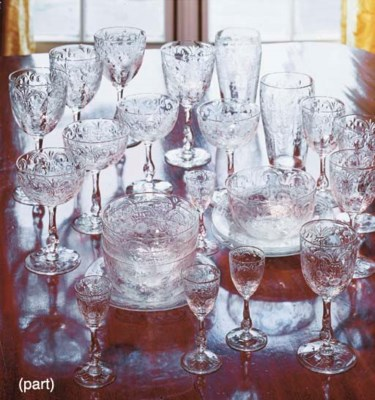 A GLASS PART STEMWARE SERVICE