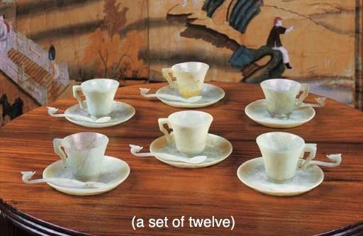 TWELVE CHINESE BOWENITE TEA CU
