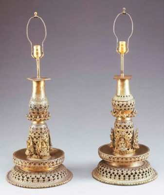 A Pair of Burmese or Thai Bron