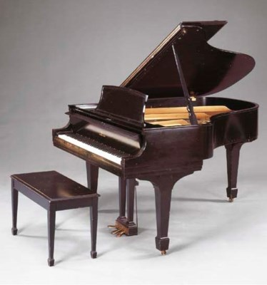 A STEINWAY AND SONS BABY GRAND