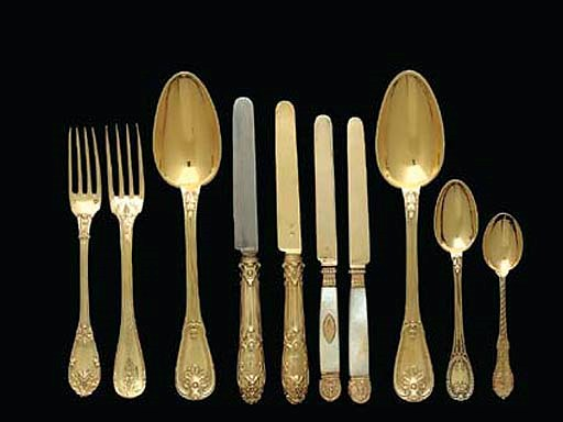 A GROUP OF FRENCH SILVER-GILT