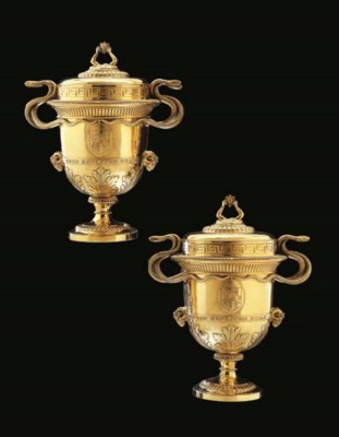 A PAIR OF GEORGE III SILVER-GI