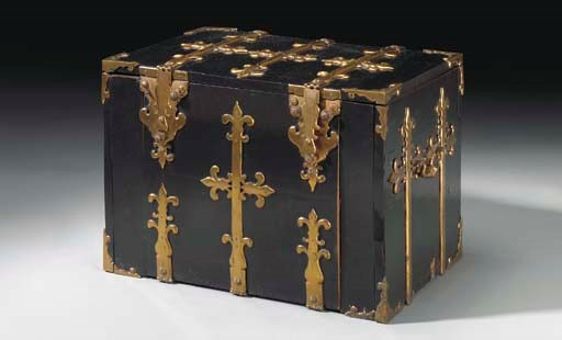 A FRANCO-FLEMISH LACQUERED GIL