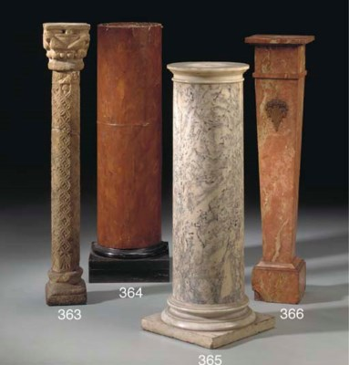 A FRENCH MARBLE COLUMN