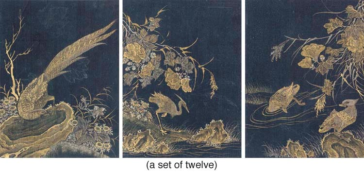 A SET OF TWELVE CHINESE PAINTI
