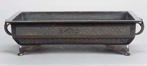 CHINESE BRONZE RECTANGULAR JAR