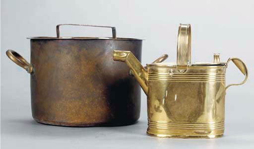 A GROUP OF COPPER AND BRASS HO