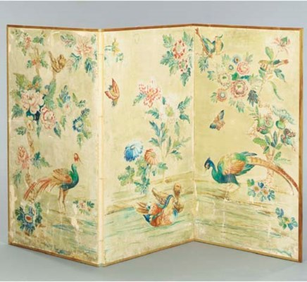 A CHINESE PAINTED WALLPAPER TH