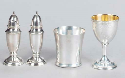 A GROUP OF VARIOUS SILVER TABL