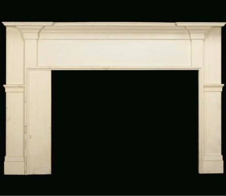 A FEDERAL WHITE PAINTED PINE M