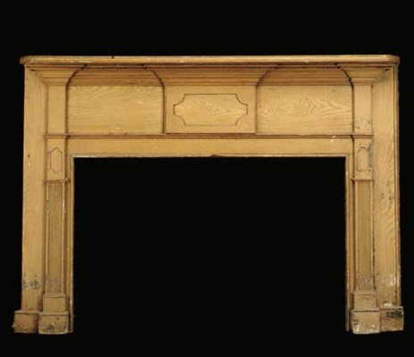 A GRAIN PAINTED FEDERAL MANTLE