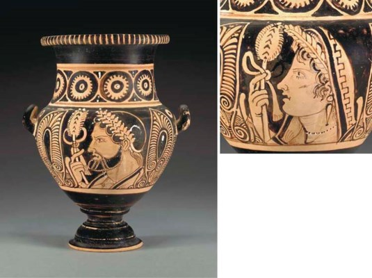 AN ETRUSCAN RED-FIGURED STAMNO