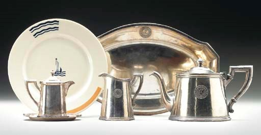 A four piece silver service an