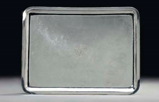 A square sterling silver servi