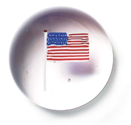 AN 'AMERICAN FLAG' WEIGHT