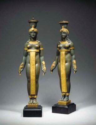 PAIRE DE GRANDES DEESSES EGYPT