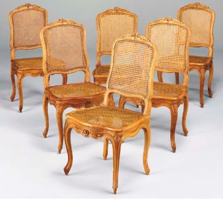 SIX CHAISES CANNEES DE STYLE L