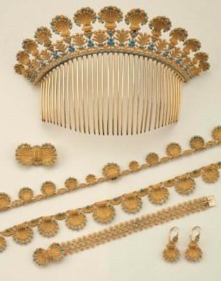 Antica parure in oro e paste v
