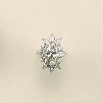 Anello in oro bianco e diamant