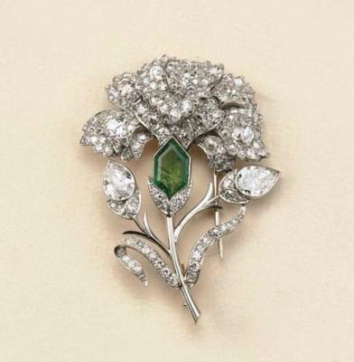 Spilla in platino con diamanti