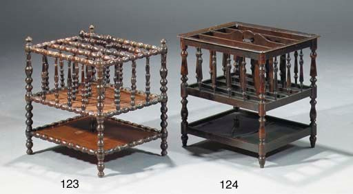AN ENGLISH STAINED WOOD CANTER