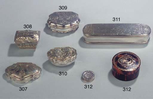 A French silver-gilt snuff-box