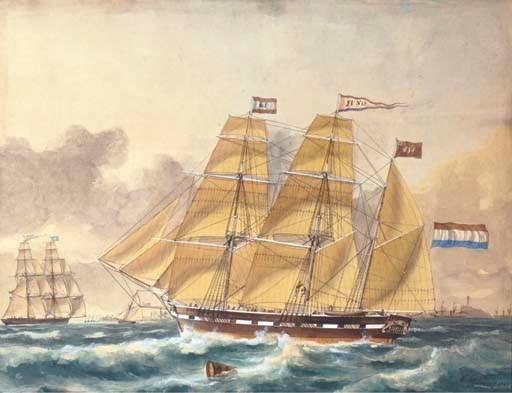 François Carlebur (Dutch, 1821
