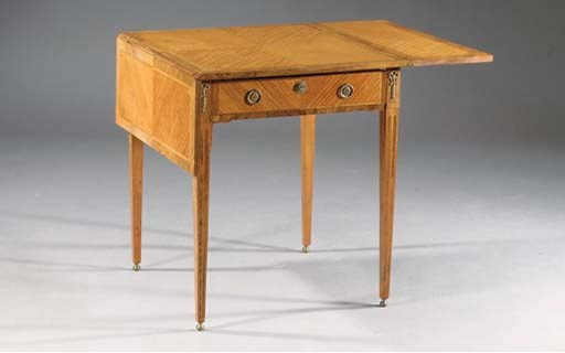 A DUTCH SATINWOOD AND ROSEWOOD