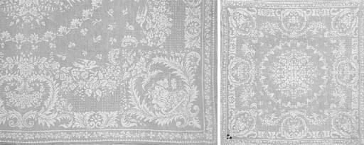 A tablecloth and ten napkins