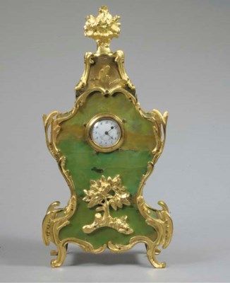 A Louis XV green-stained horn