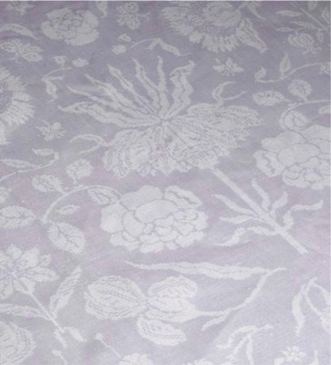 A Damask linen commemorative t