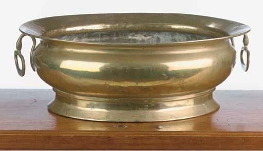 A dutch brass wine cooler