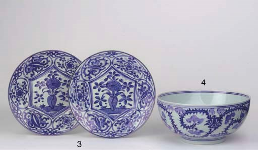 An Arita blue and white bowl