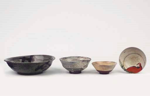 A group of four tea bowls (CHA