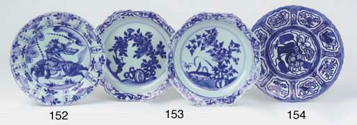 Two late Ming blue and white p