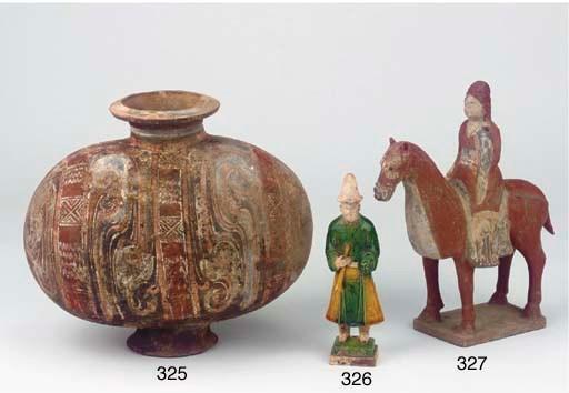 A Sancai pottery figure
