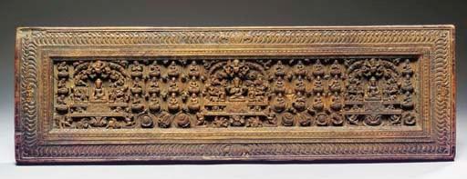 A Tibetan wood manuscript cove