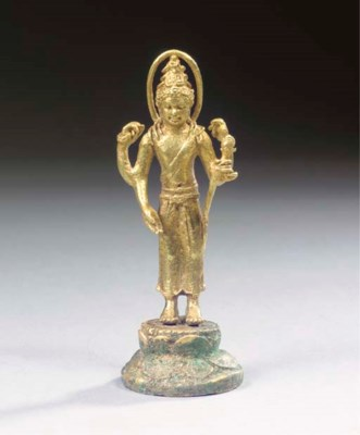 A rare Javanese gold figure of