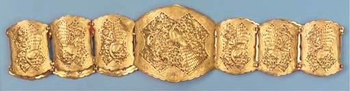 A Straits Chinese gold belt