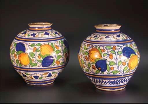 A set of two Italian maiolica