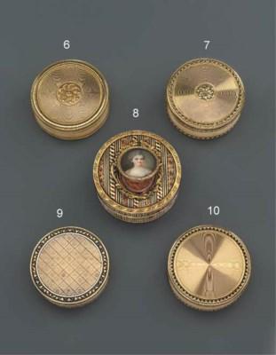 A LOUIS XV TWO-COLOUR GOLD BON