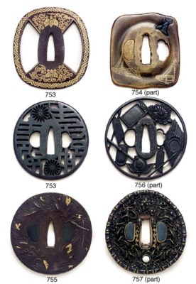 AN IRON TSUBA and two others