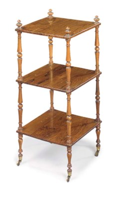A REGENCY ROSEWOOD THREE-TIER