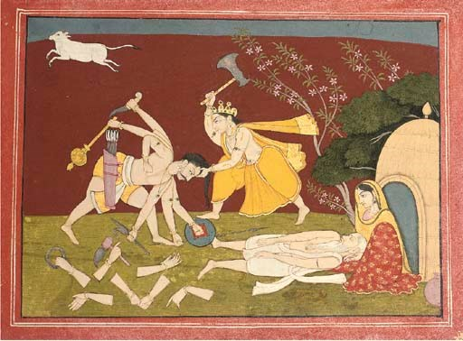 PARASURAMA ATTACKS KARTAVIRYA