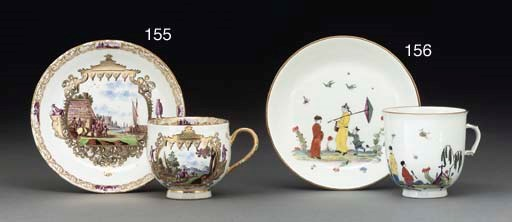 A MEISSEN CHINOISERIE COFFEE-C