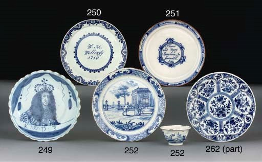 A DUTCH DELFT ROYAL PORTRAIT D