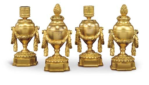 A SET OF FOUR LATE LOUIS XV OR